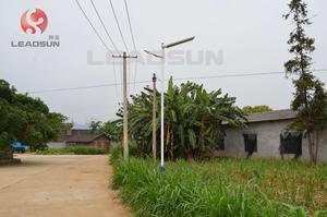 广西柳州新农村一体化太阳能路灯安装实例1