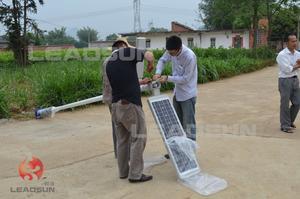 广西柳州新农村一体化太阳能路灯安装实例3